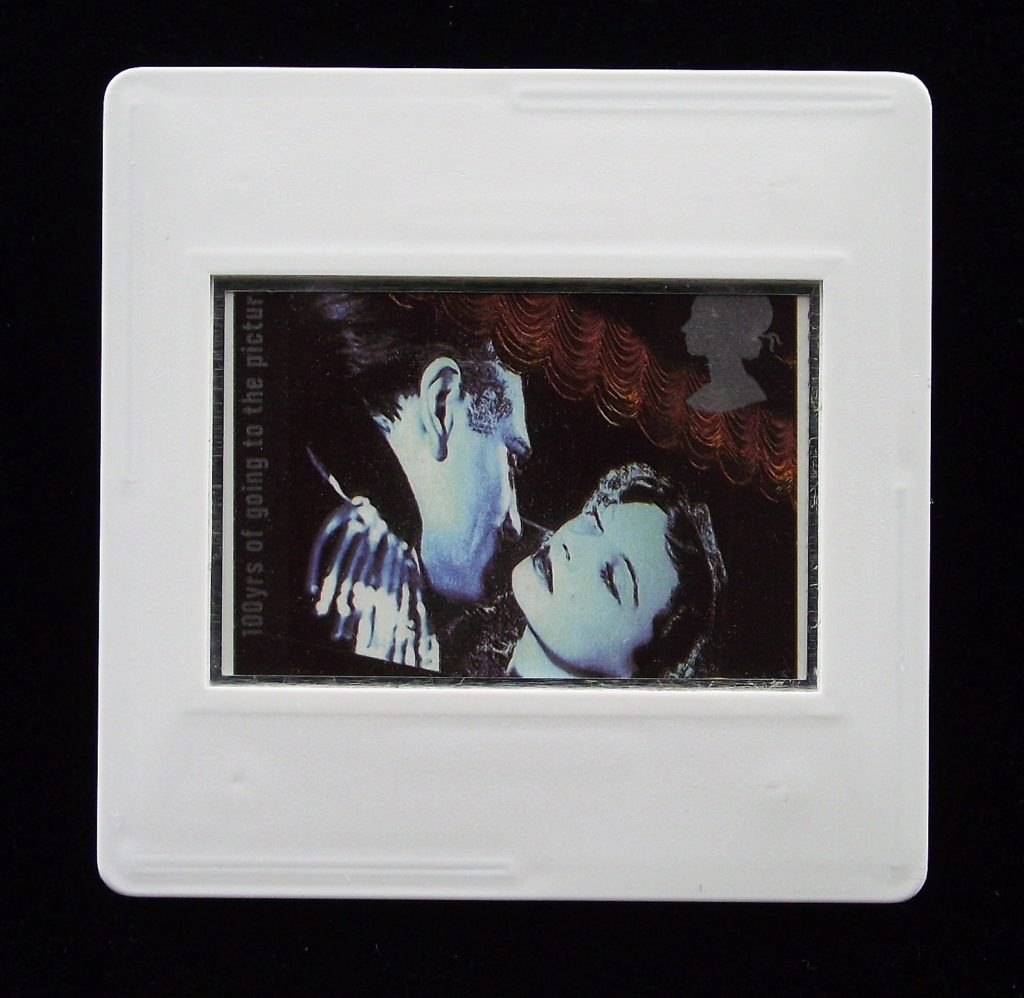 Laurence Olivier and Vivien Leigh in Lady Hamilton - Stamp Style badge
