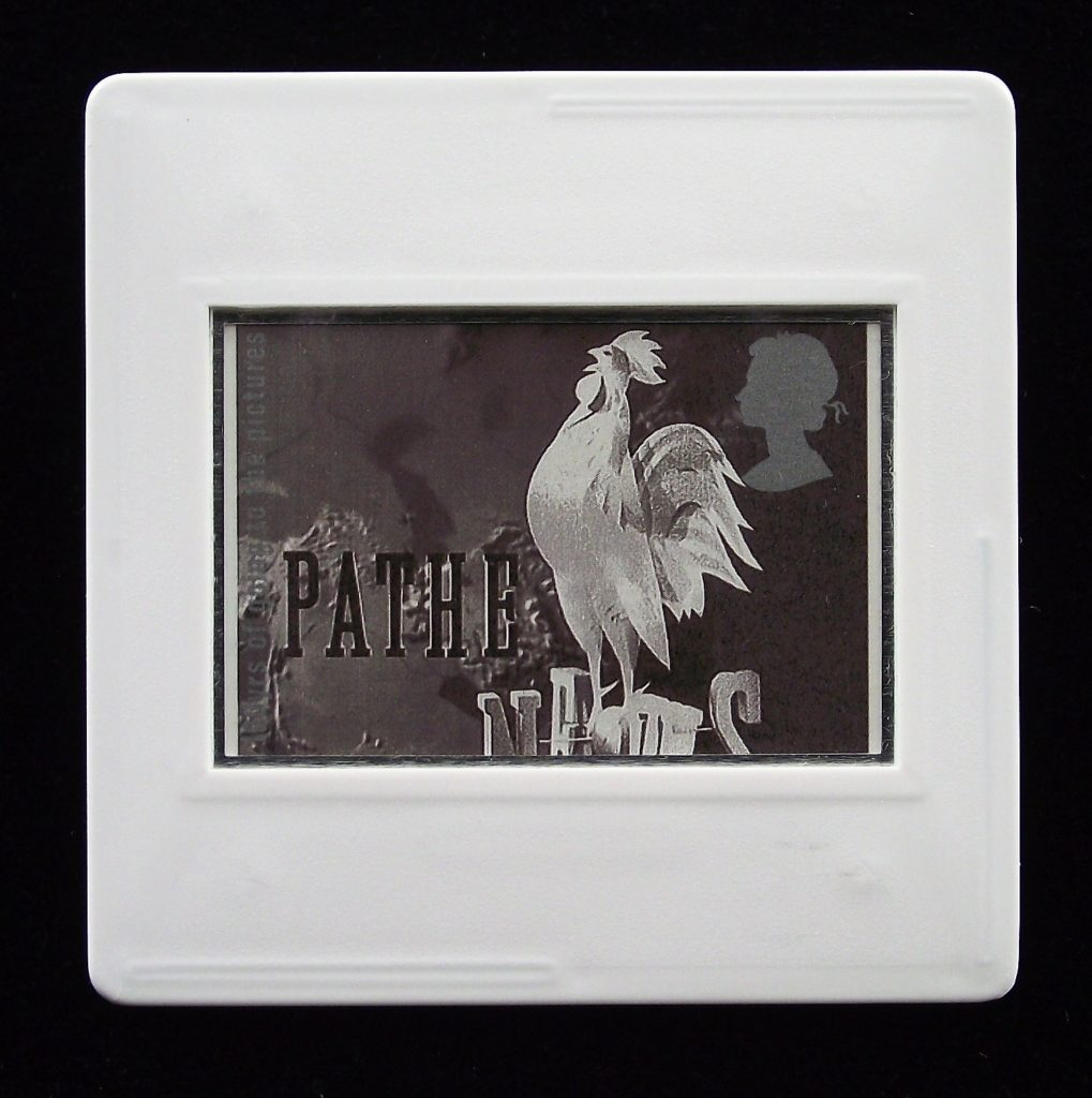 Pathe News Still brooch - Stamp Style movie brooches