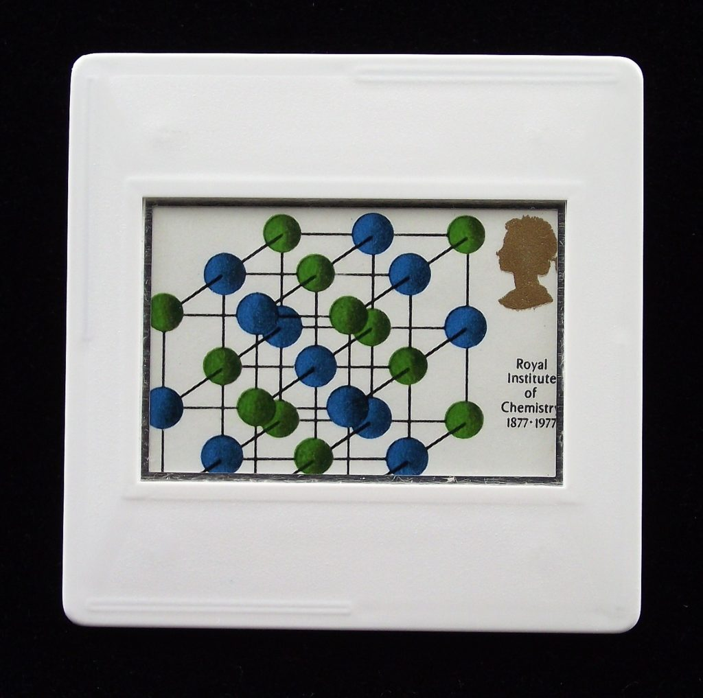Salt brooch- Chrystallography - Chemistry - Science badges