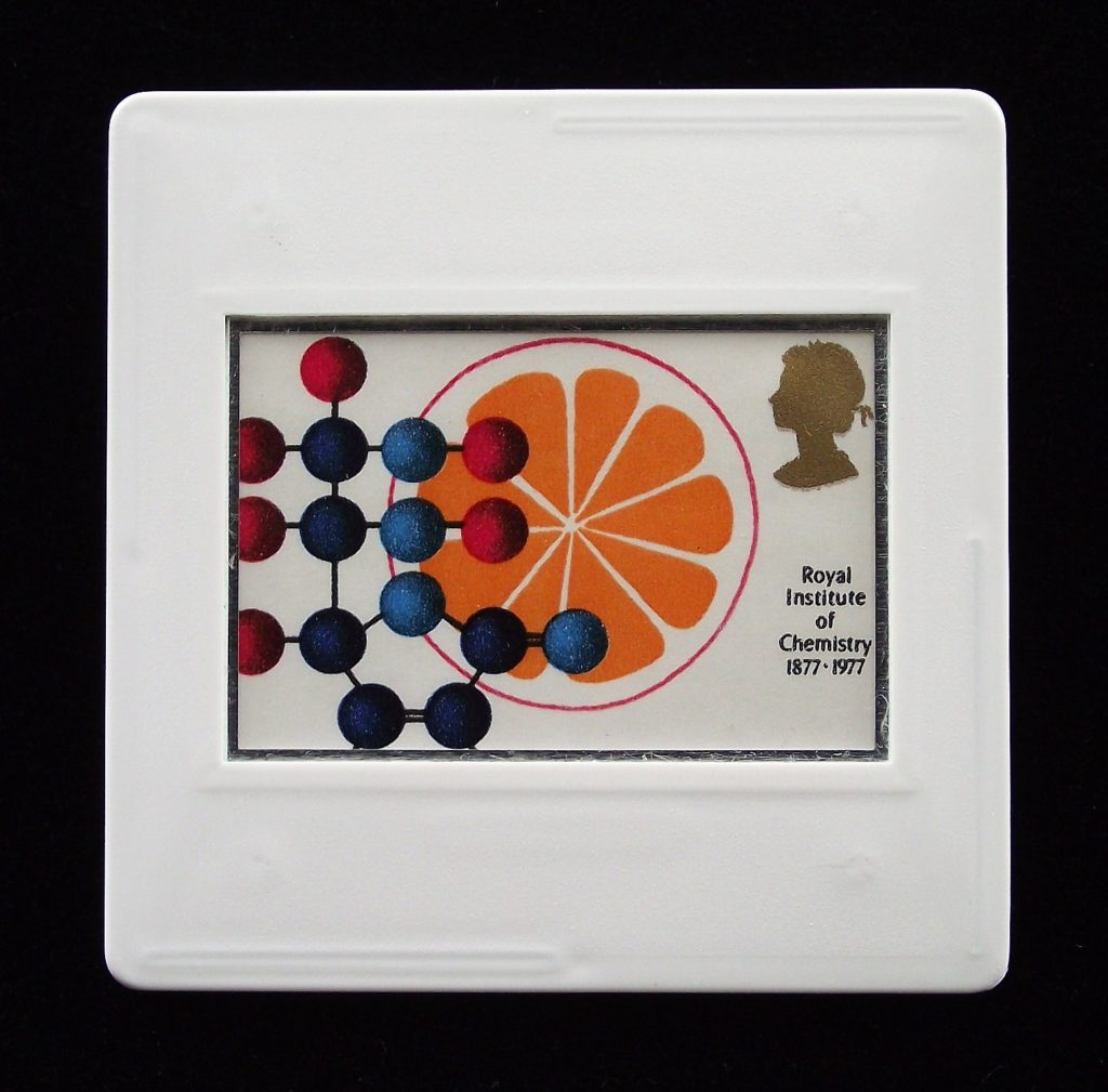 Vitamin C Synthesis - Chemistry brooch- Stamp Style science brooches