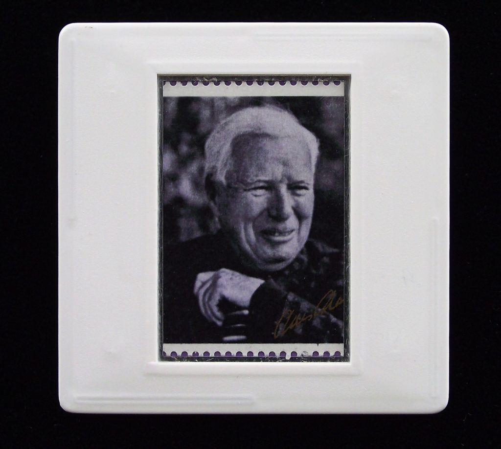 Charlie Chaplin brooch (from photo by Lord Snowdon) - Stamp Style badge