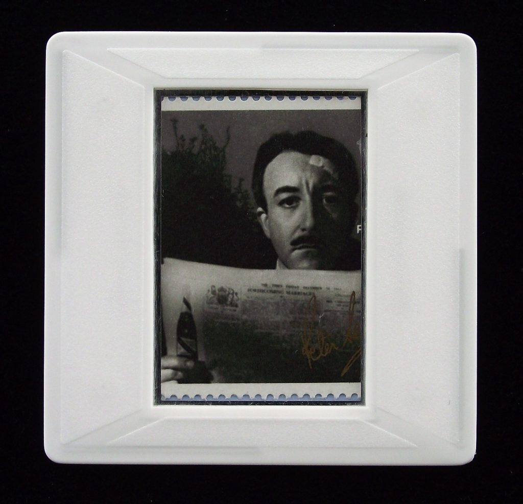 Peter Sellers brooch from Bill Brandt portrait - Stamp Style badge