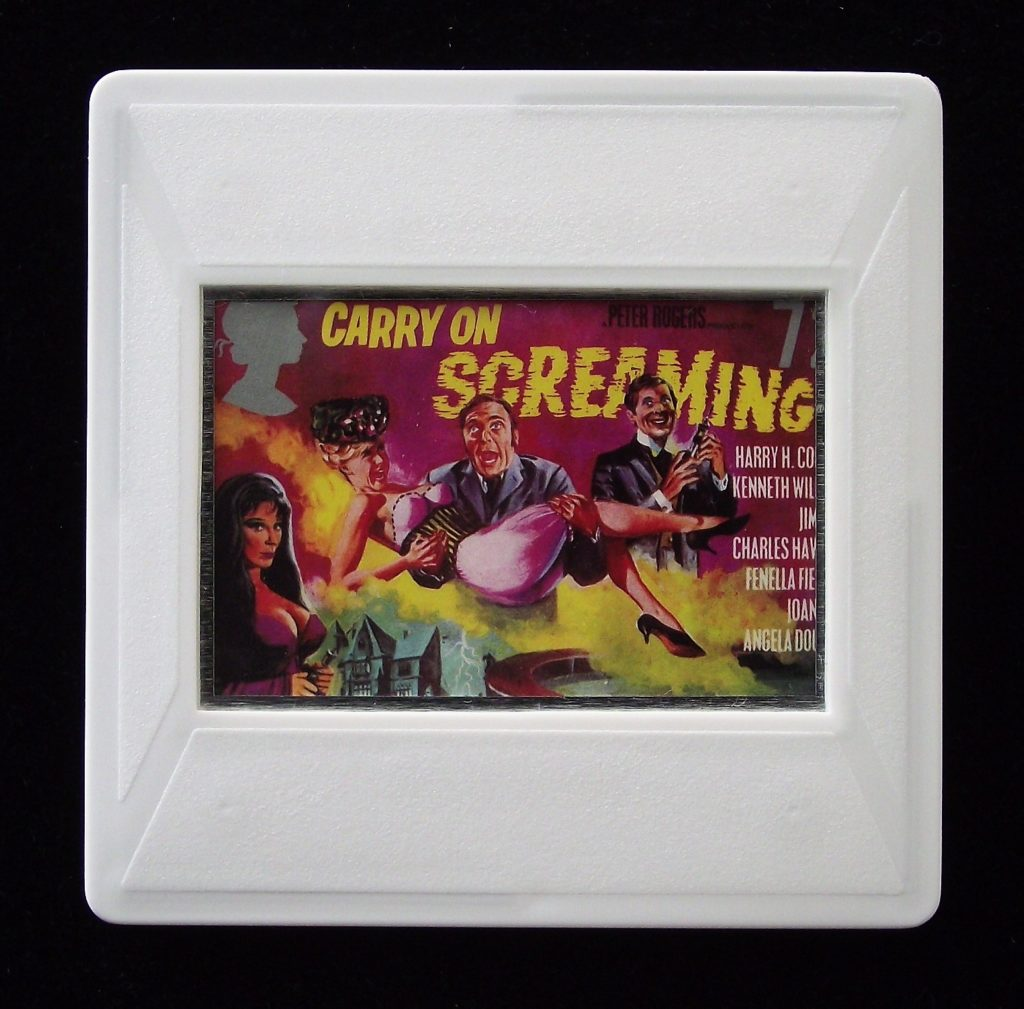 Carry On Screaming - Stamp Style movie brooch
