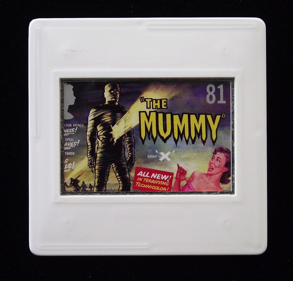 The Mummy brooch - Stamp Style classic horror movie badge