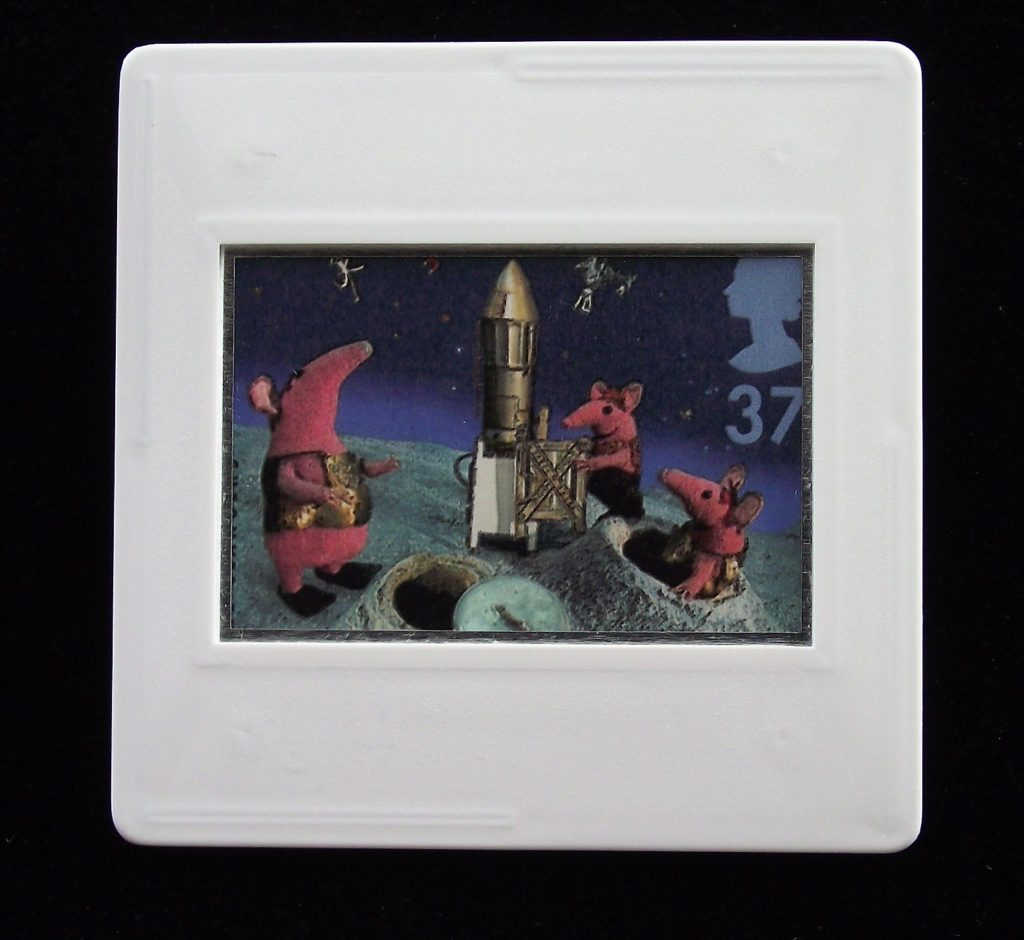 Clangers brooch with the Soup Dragon - Oliver Postgate - children's tv programme brooches