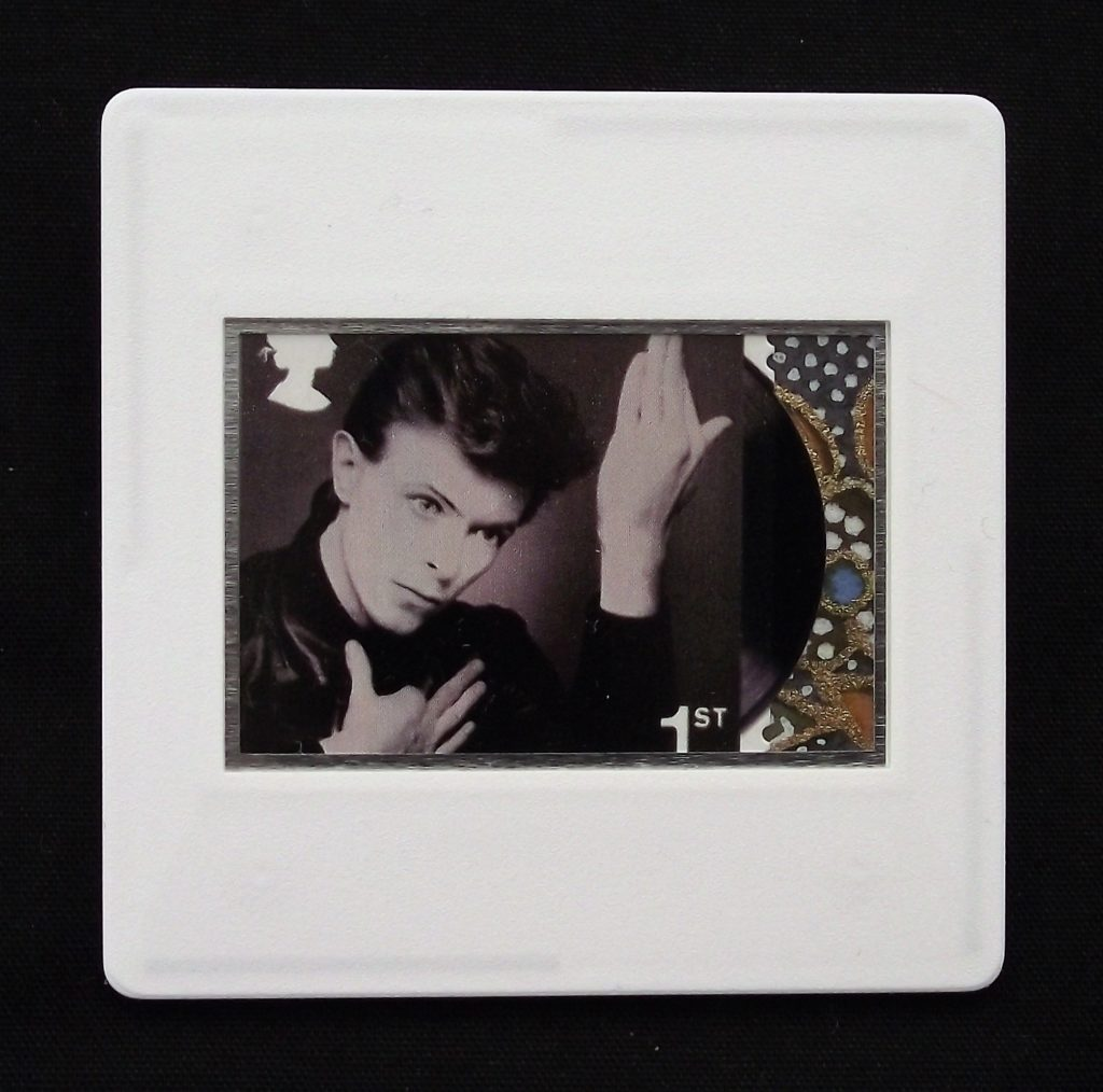 David Bowie-Heroes album cover - Stamp Style brooch