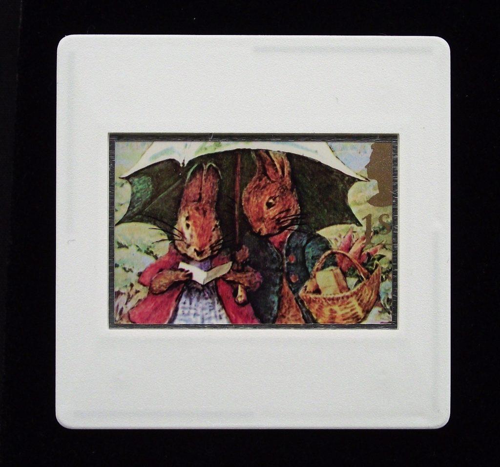 Peter Rabbit and Mrs Rabbit - children's book character brooch - Beatrix Potter