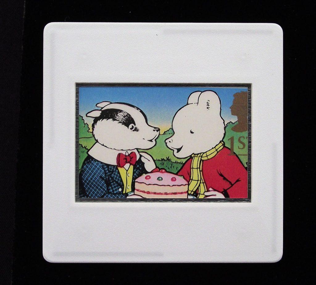 Rupert Bear and Bill Badger brooch - John Harrold -