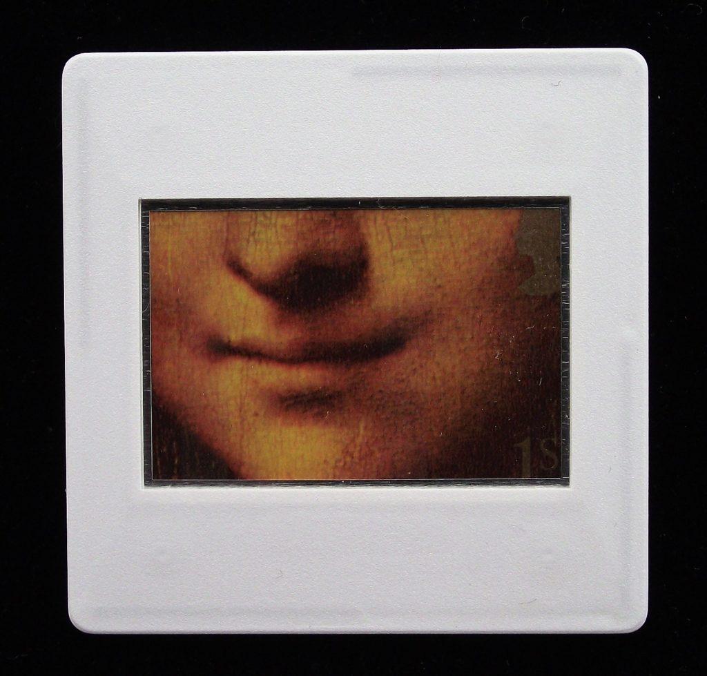 Mona Lisa - Leonardo Da Vinci - Stamp Style badge