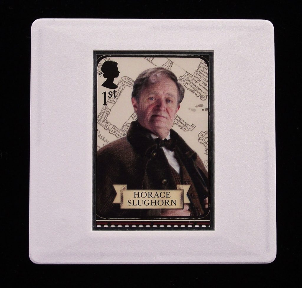 Horace Slughorn - Harry Potter - Stamp Style badge