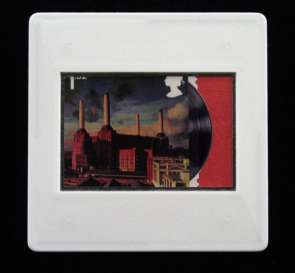 Pink Floyd Animals album cover brooch  - Battersea Power Station - music brooches and badges