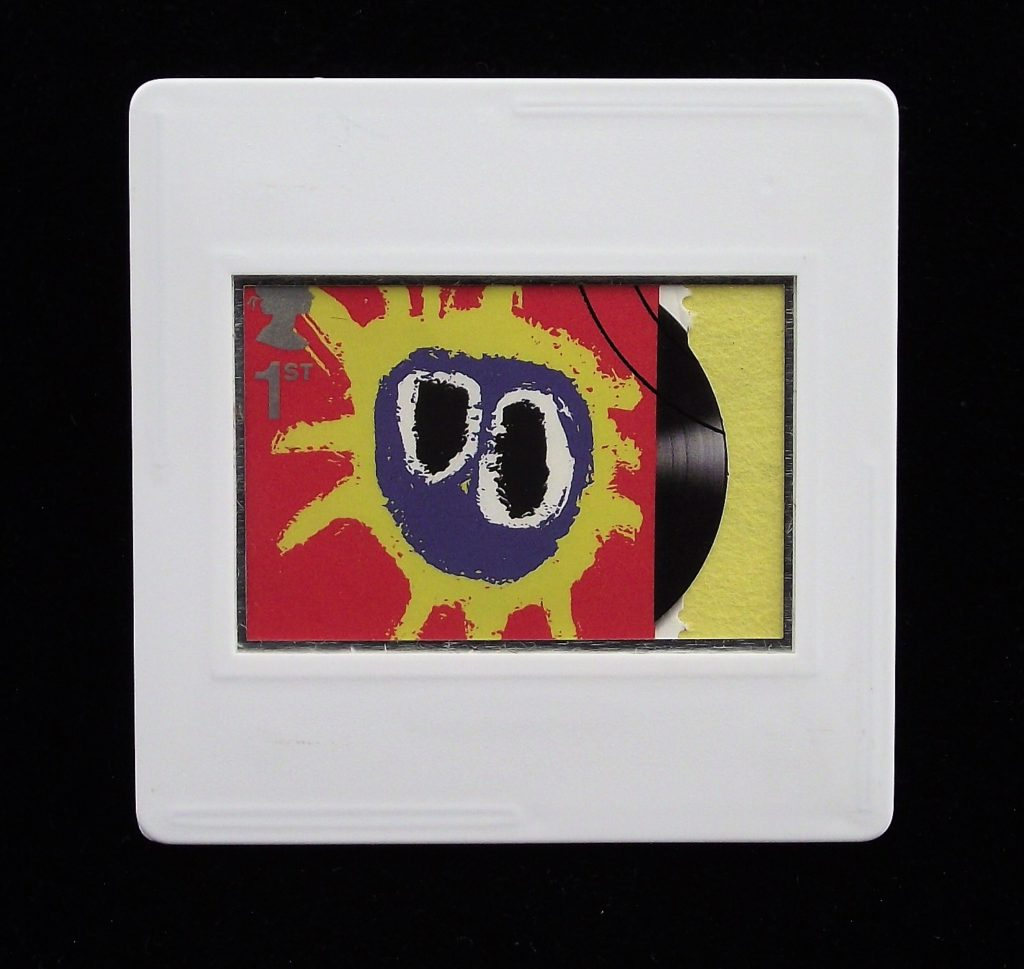 Primal Scream brooch - Screamadelica - music brooches and badges