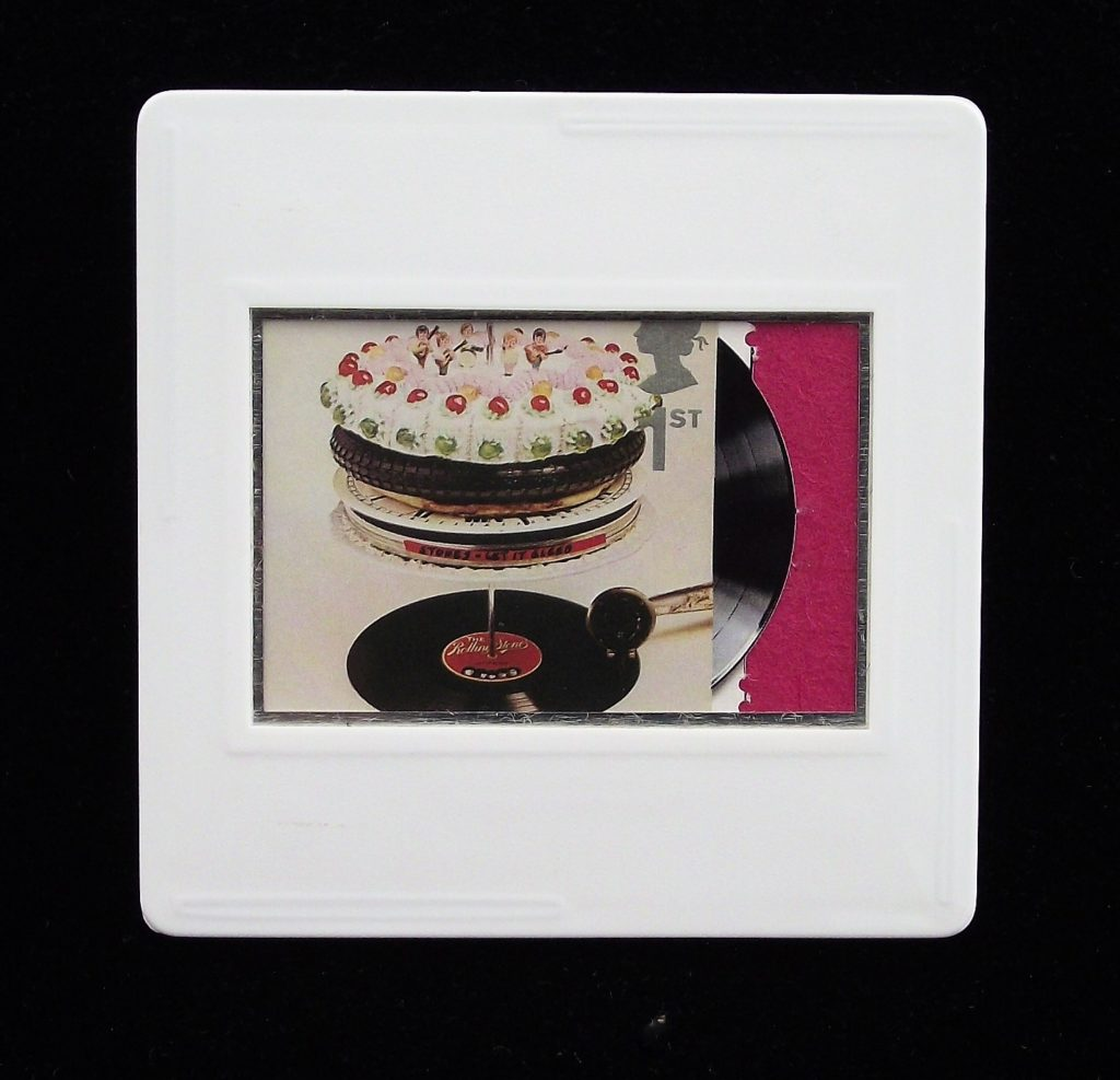 Rolling Stones - Let It Bleed album cover brooch