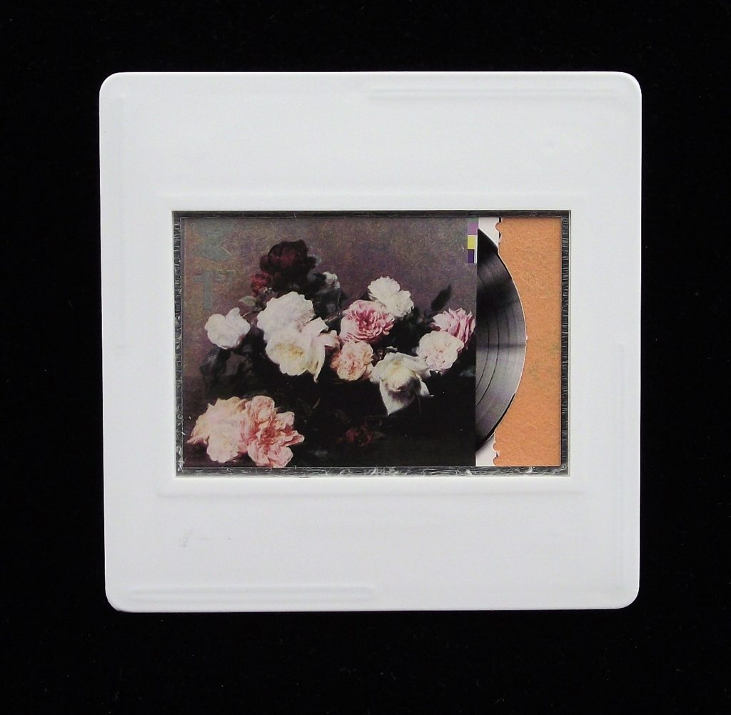 New Orde brooch  - Power Corruption and Lies - classic album cover