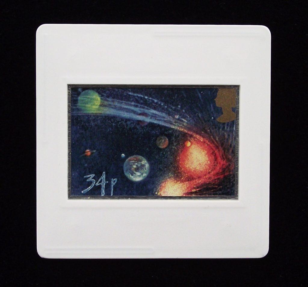 Comet orbiting Sun and Planets - Ralph Steadman badge