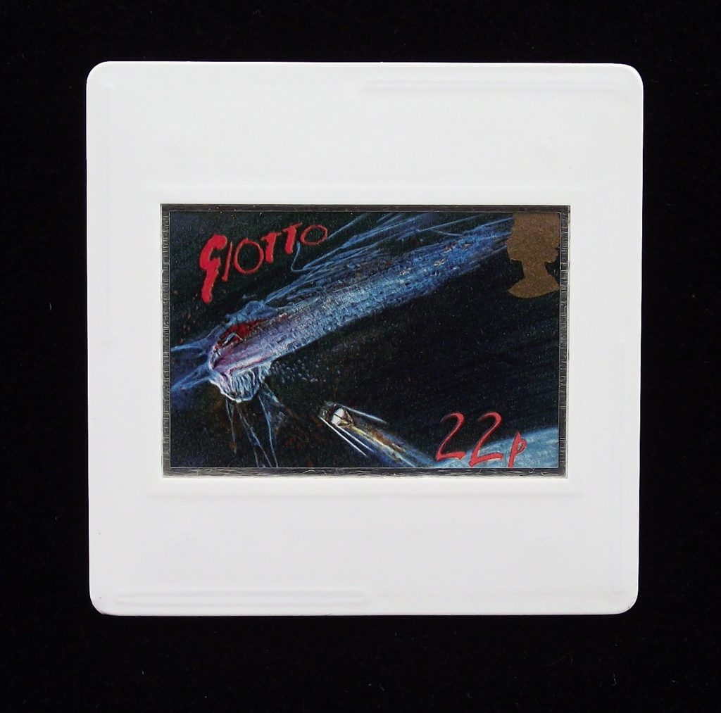Giotto Spacecraft approaching Comet - Ralph Steadman badge