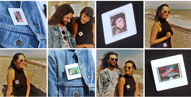 Grayson Perry - Vivien Leigh badges being worn by young couple on beach