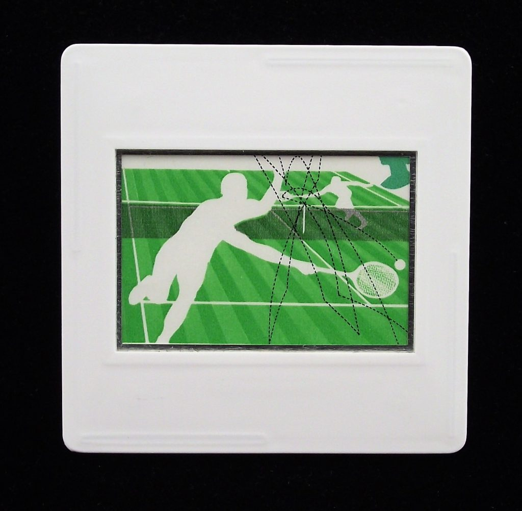 Lawn Tennis sports brooch - Andrew Restall