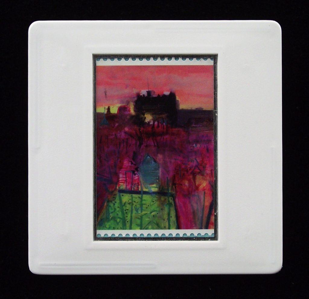 Barbara Rae - Inverleith Allotments and Edinburgh Castle