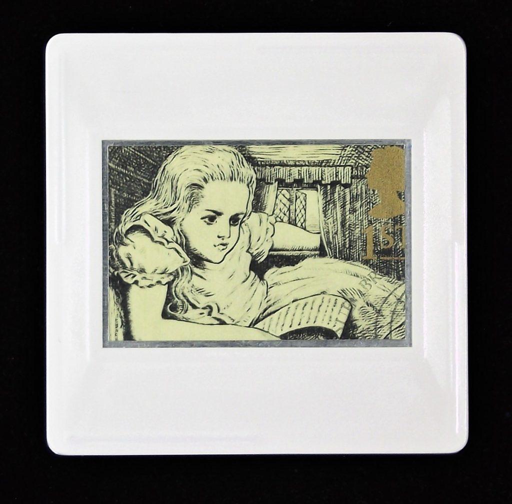 Alice In Wonderland brooch - children's book character brooch