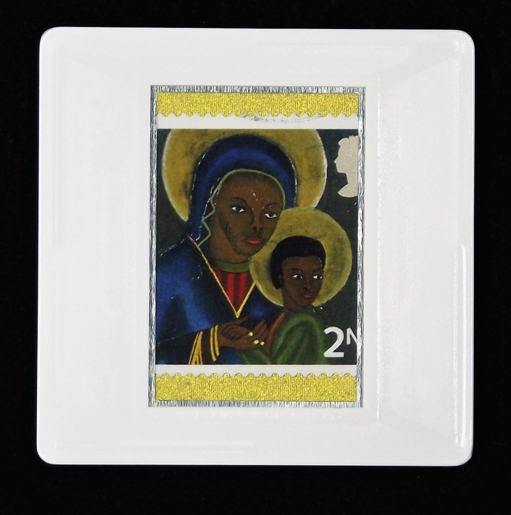 Christmas Brooch - Black Madonna and Child from Haiti