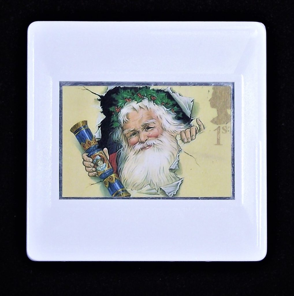 Father Christmas Brooch - holding cracker