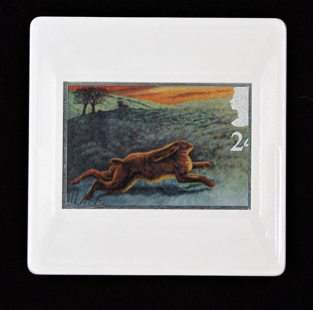 Hare on North Yorkshire Moors brooch - illustration Keith Bowen