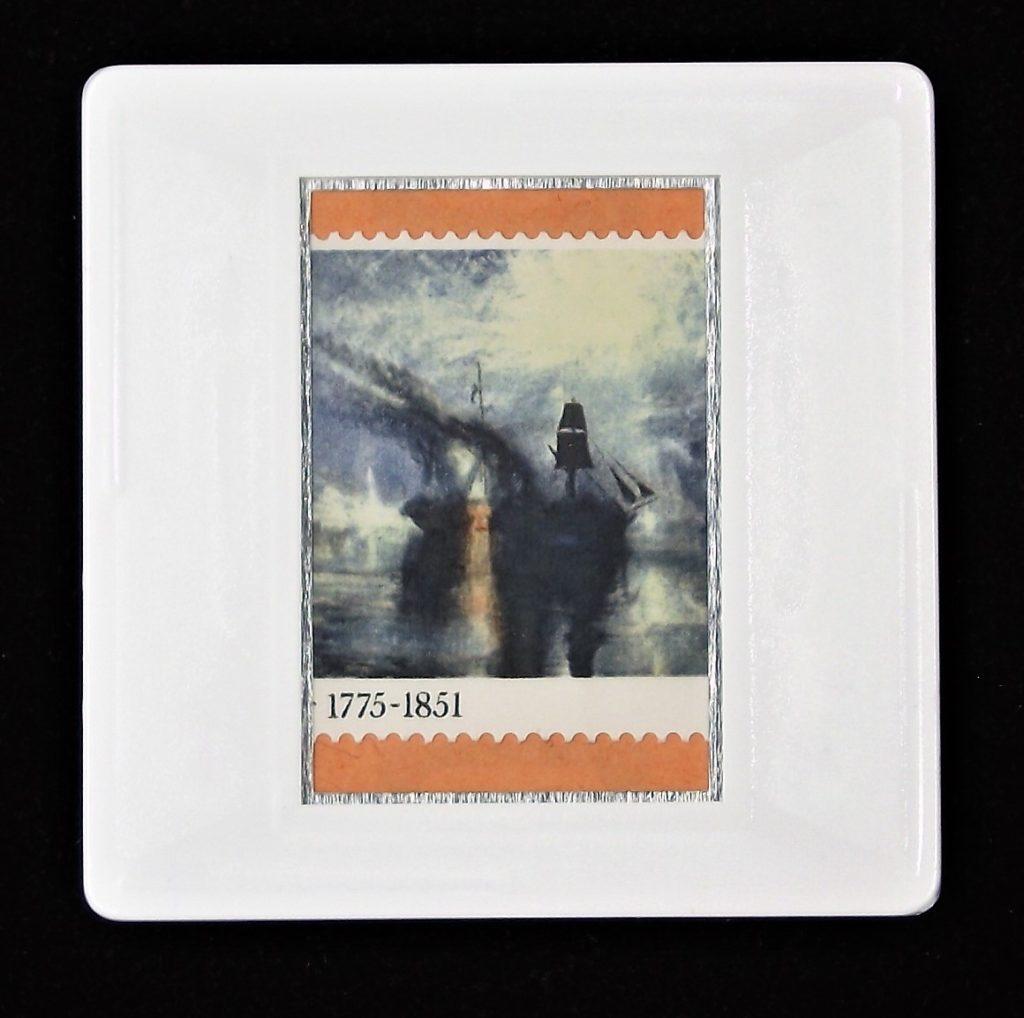 J W M Turner - 'Peace - Burial at Sea' brooch