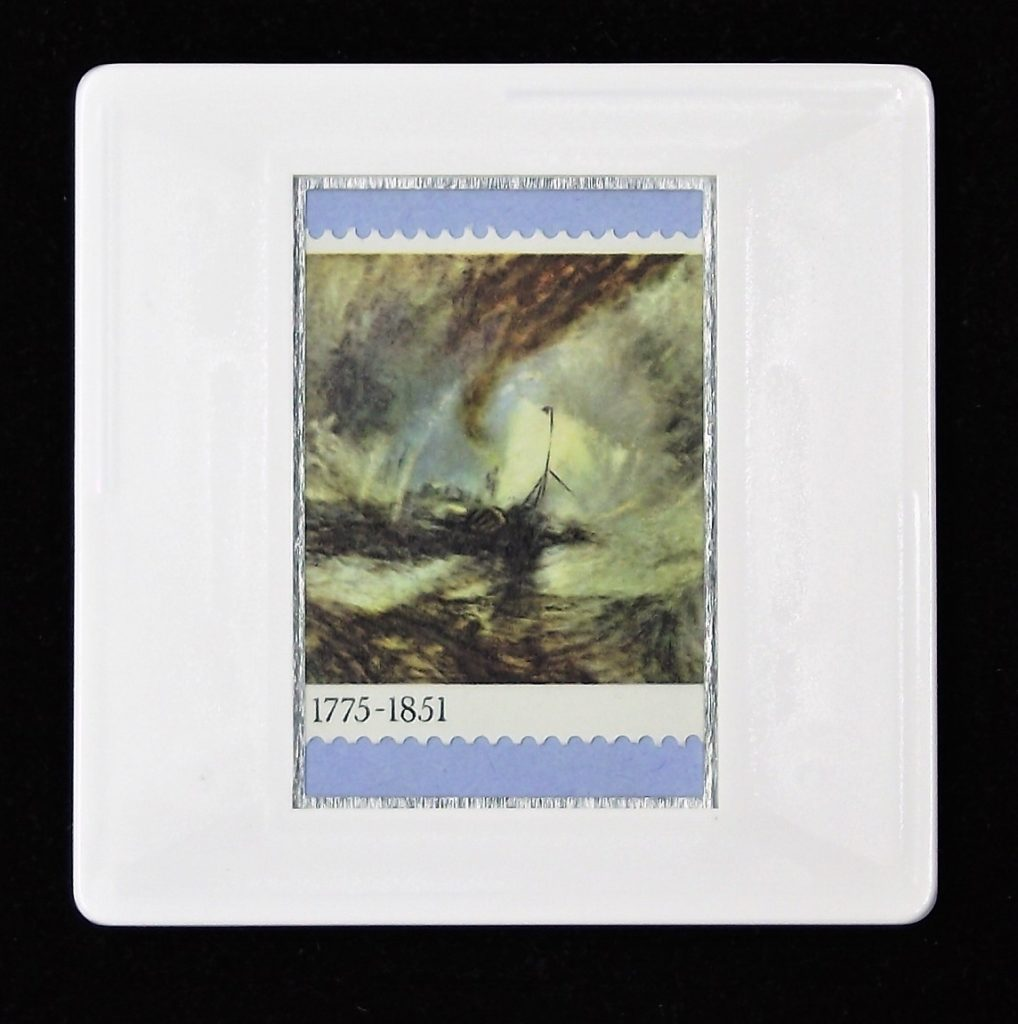 JWM Turner - 'Snowstorm - Steamer off a Harbour's Mouth' brooch
