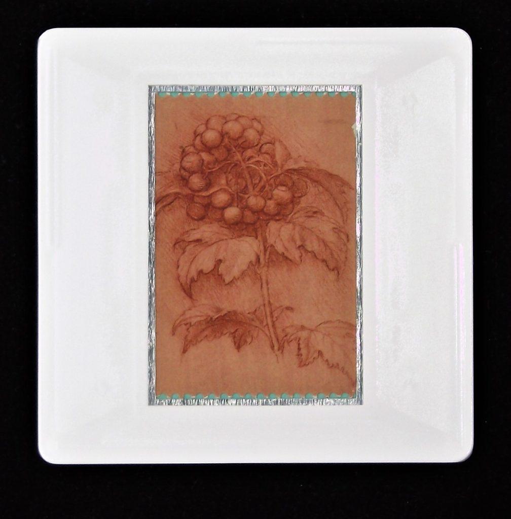 Leonardo da Vinci brooch -A sprig of guelder-rose