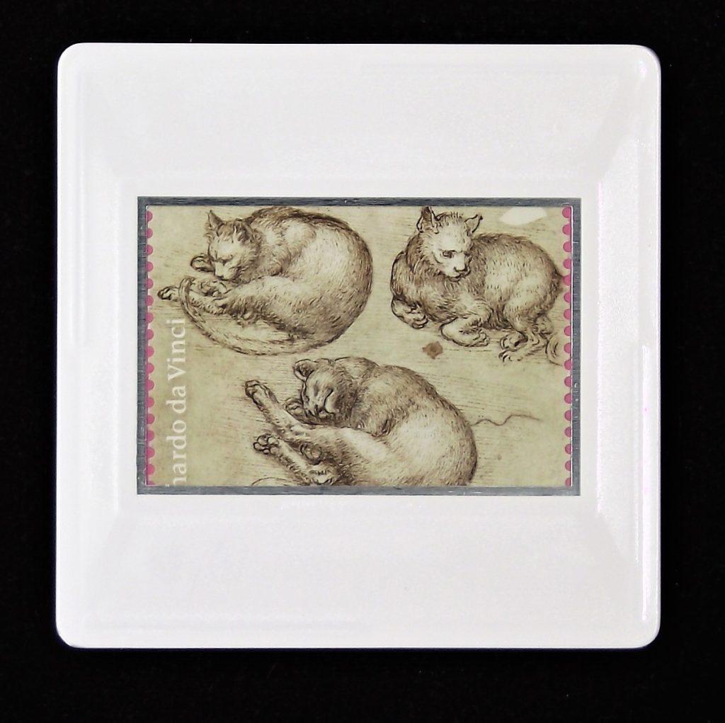 Leonardo da Vinci brooch -Studies of cats