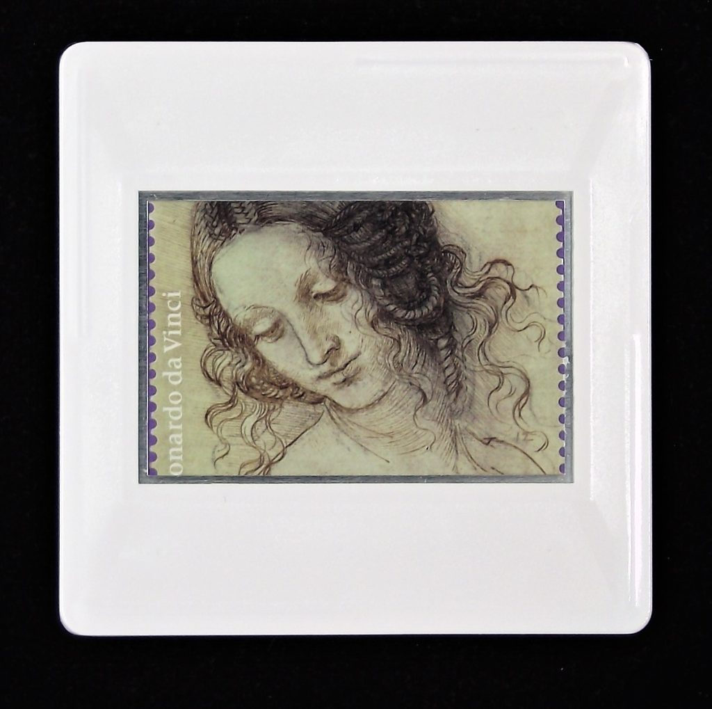 Leonardo da Vinci brooch -The head of Leda