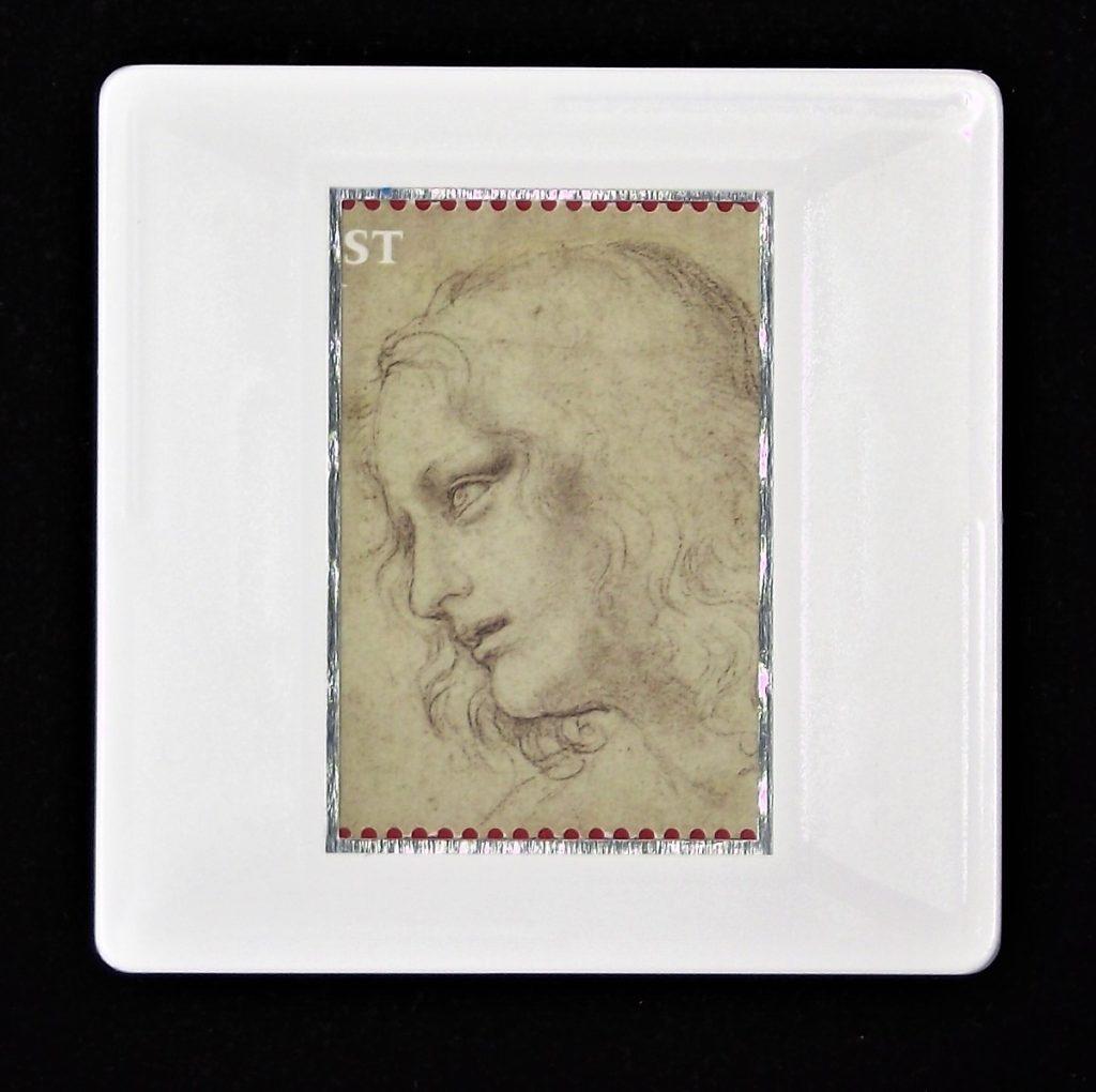 Leonardo da Vinci brooch - The head of St. Philip