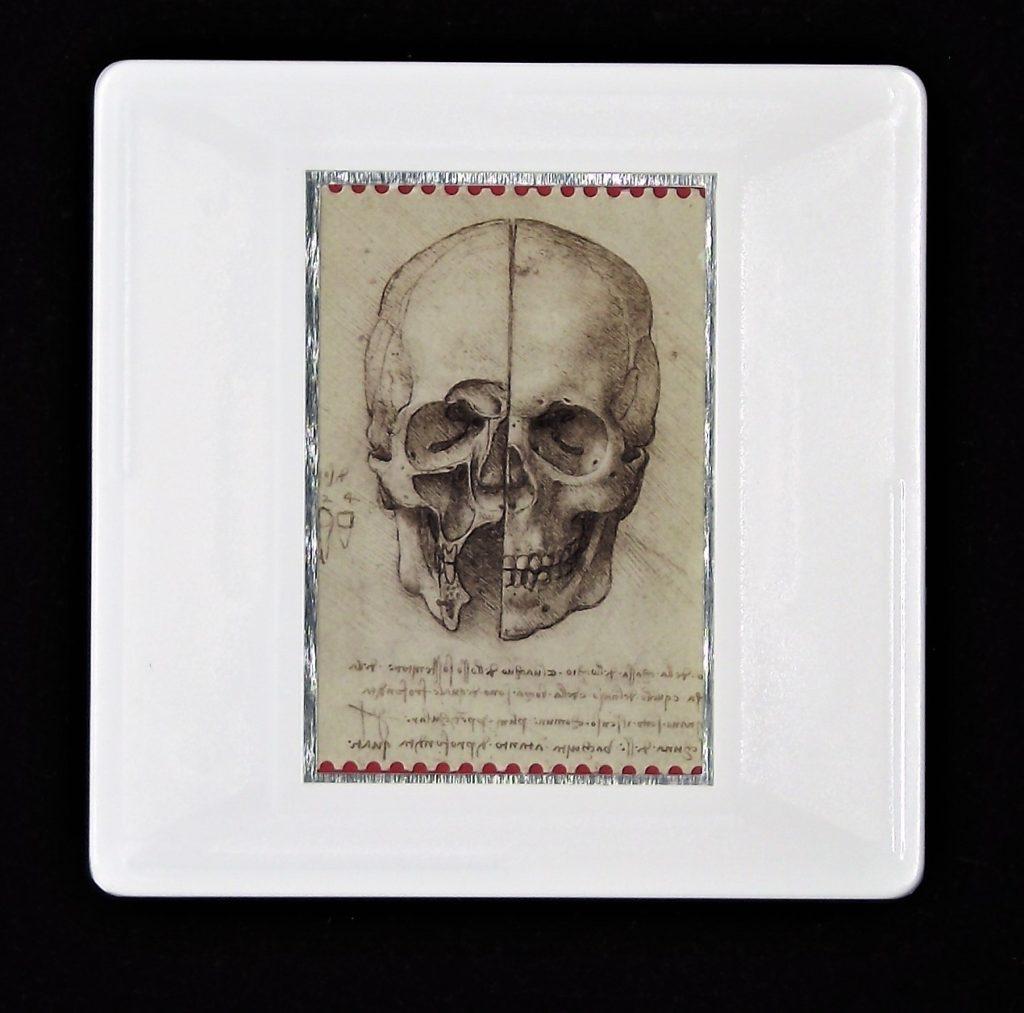 Leonardo da Vinci brooch- The skull sectioned