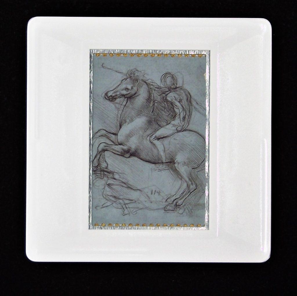 Leonardo da Vinci brooch - design for an equestrian monument