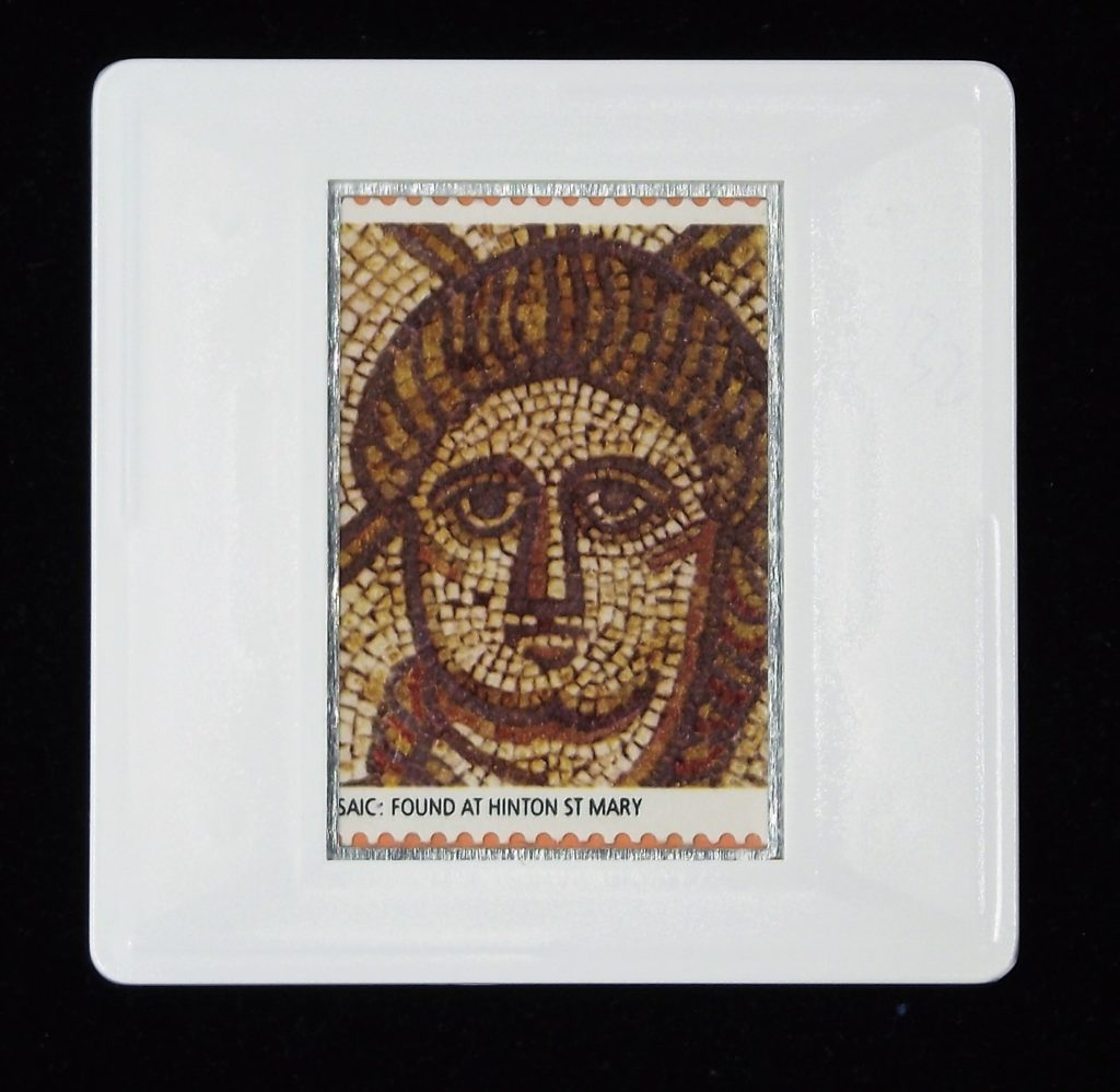 Christ (Hinton St Mary mosaic) brooch - Roman Britain