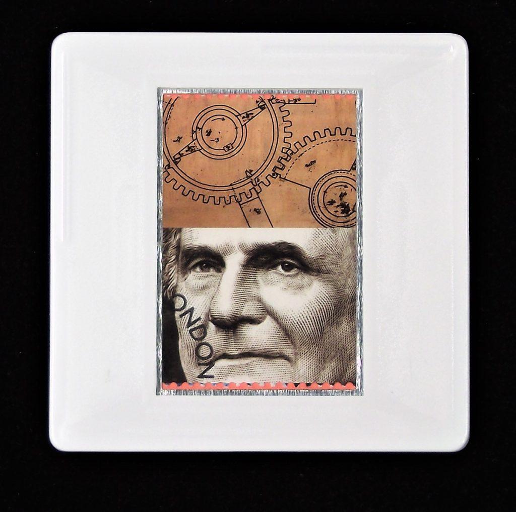 Charles Babbage brooch - Royal Society - scientist brooches