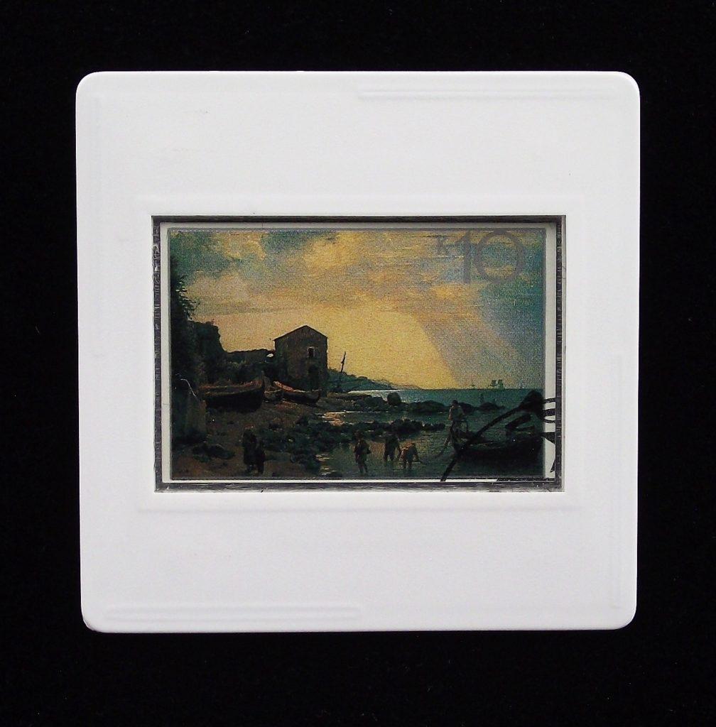 Russian landscape art brooch - Silvestr Shchedrin