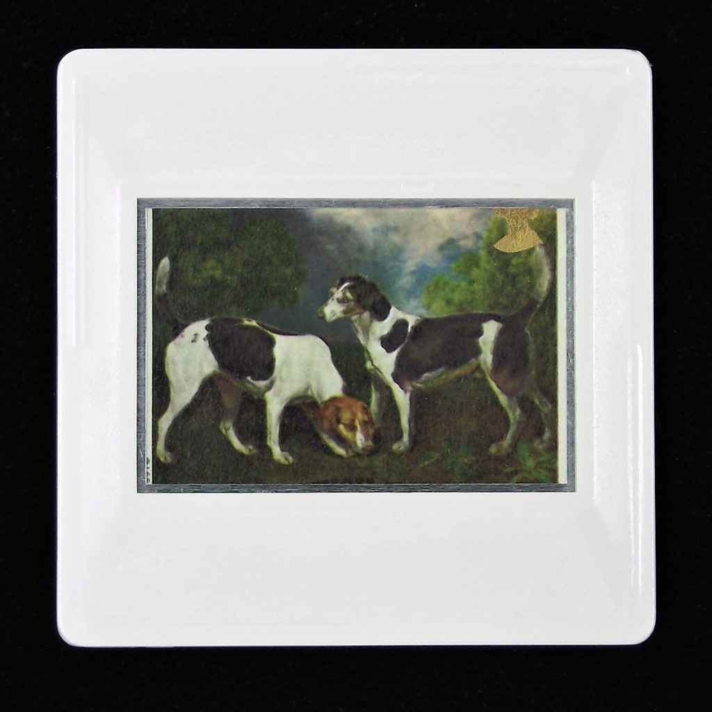 Two Hounds in a Landscape brooch - animal brooches