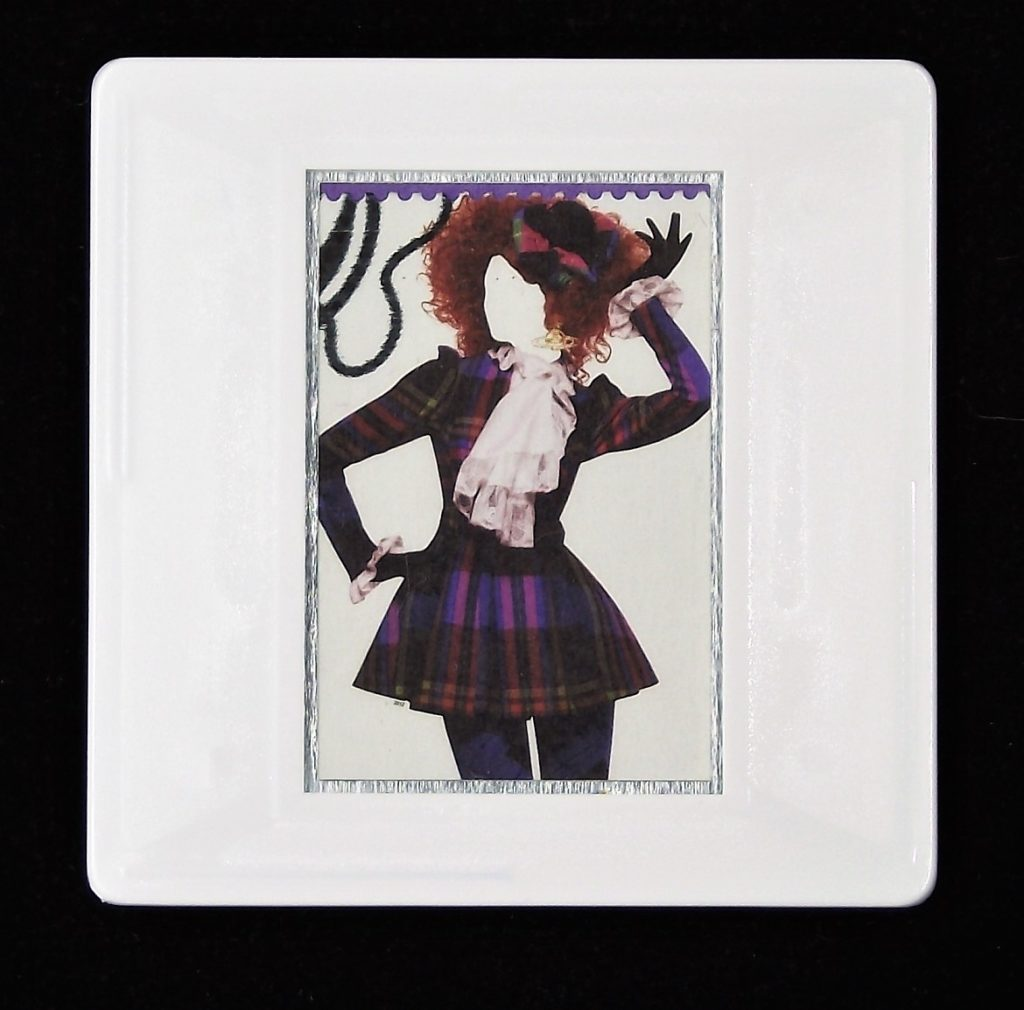 Vivienne Westwood Harlequin dress  fashion brooch