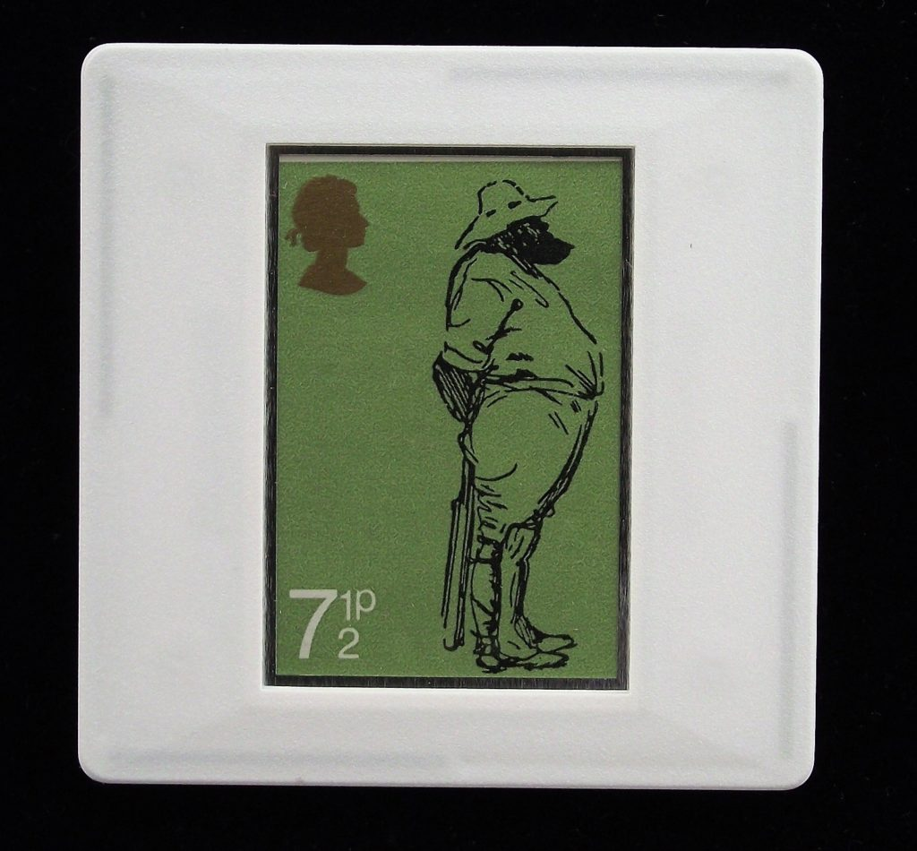 W G Grace cricket brooch -from original drawing by Harry Furniss