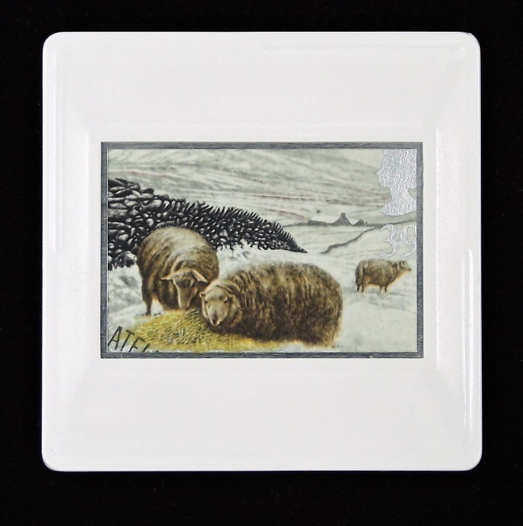 Welsh Mountain Sheep in Snowdonia brooch - illustration by Keith Bowen