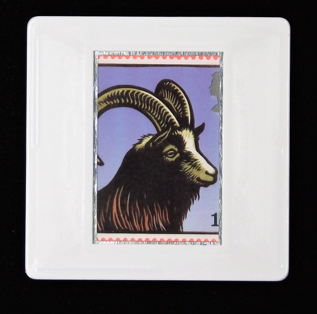 Bagot Goat brooch - farm animal brooches