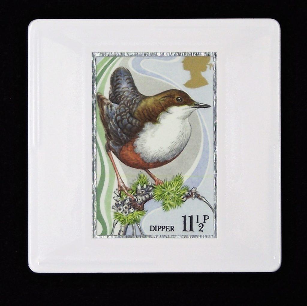 Dipper brooch - British birds