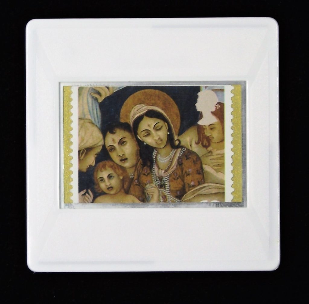 Christmas Brooch - Madonna and the Infant Jesus - (India)