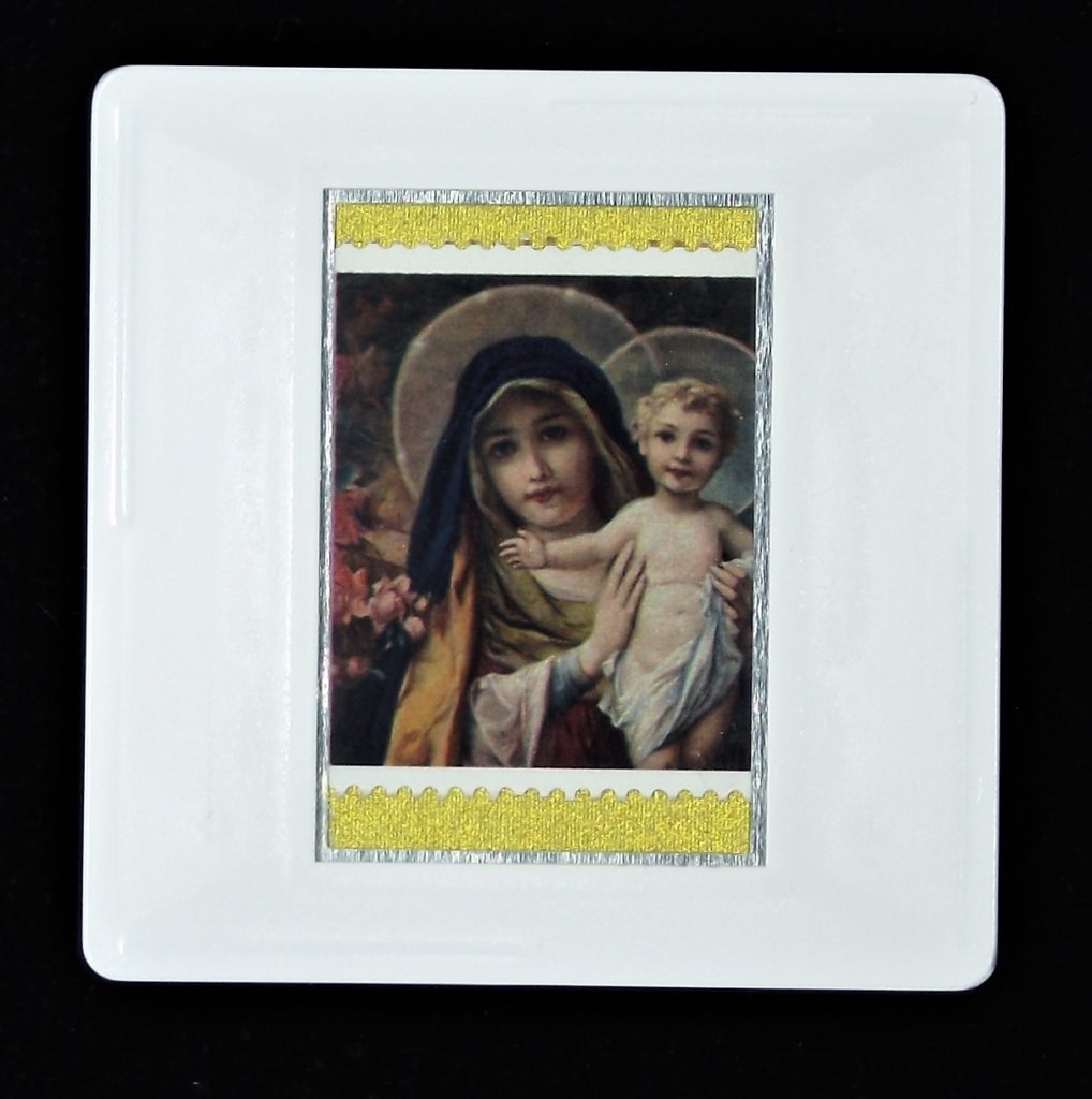 'The Virgin Mary with Infant Christ' Christmas brooch