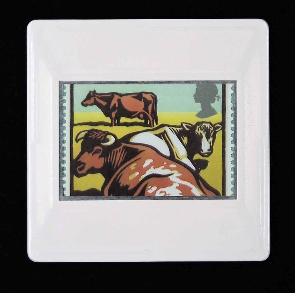 Dairy Shorthorn Cattle brooch