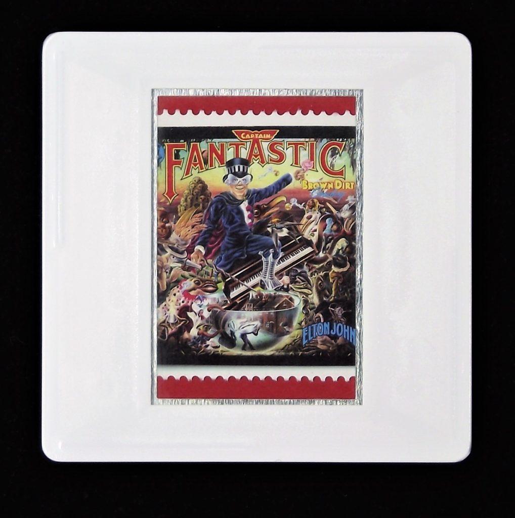 Elton John Captain Fantastic and The Brown Dirt Cowboy album cover brooch