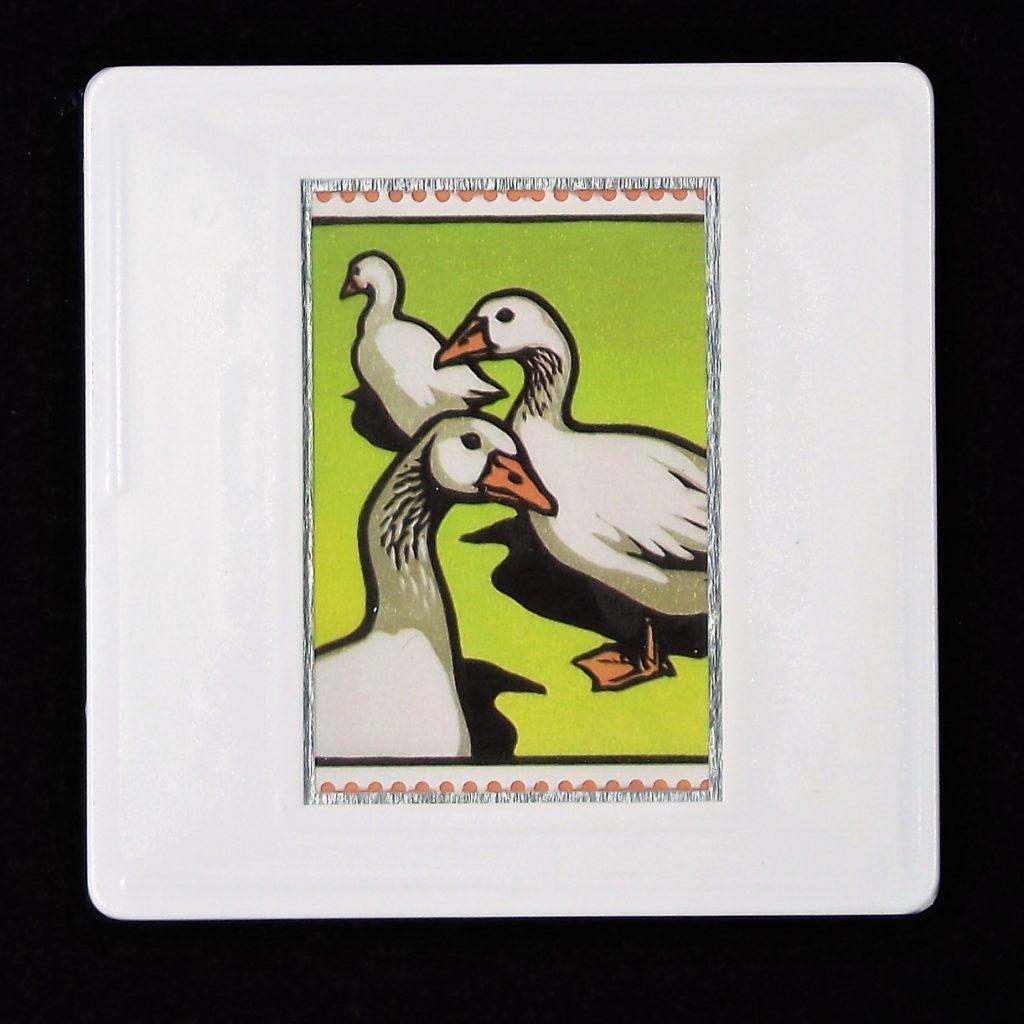 Embden Geese brooch