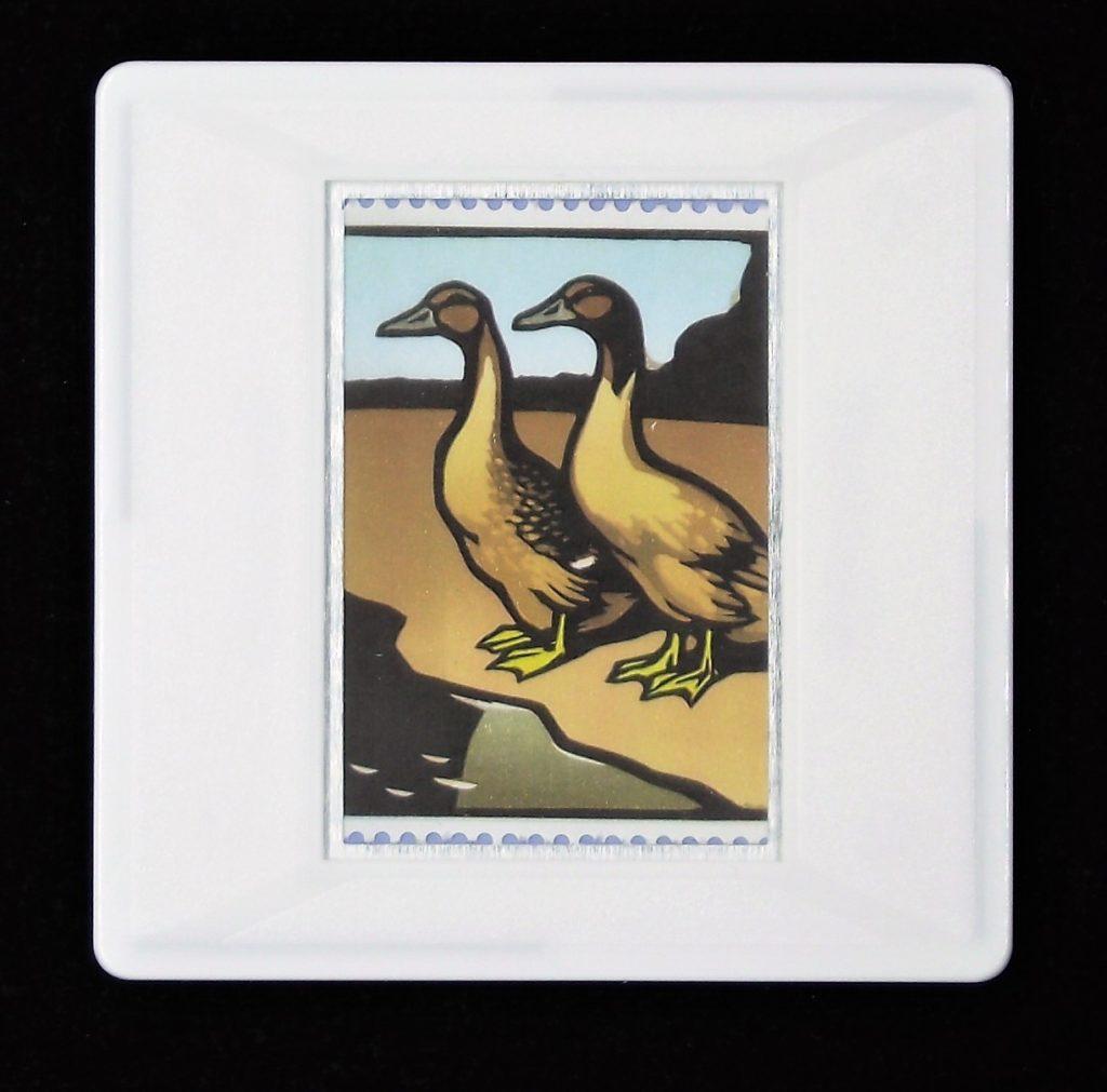 Khaki Campbell Ducks brooch